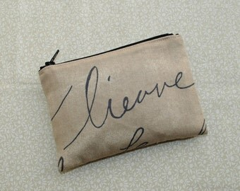 Little Zipper Pouch - Parchment