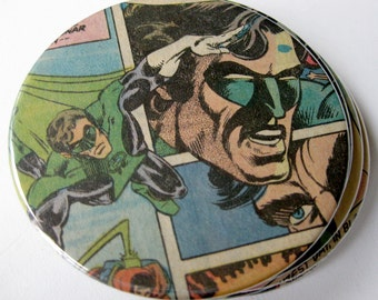 Green Lantern Coasters // Recycled Vintage Comic