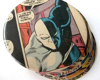 Gemini Coasters // Recycled Vintage Comic // Set of 6