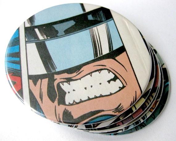 Robocop Coasters // Recycled Comic