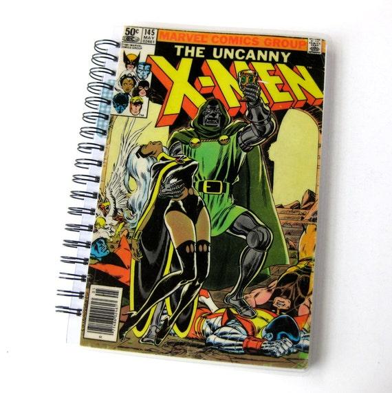 Journal & Sketchbook // X Men Comic // Recycled Vintage Comic Book