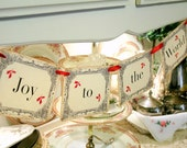 Joy to the World Christmas Banner / Garland Photo Prop Home Decoration Victorian