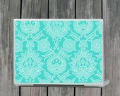 Mediterranean Damask Azure Laptop Cover
