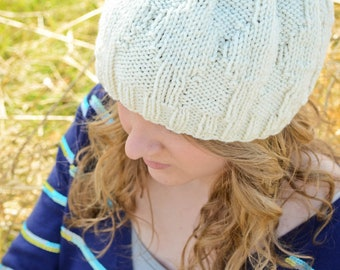 Cream Hat with diamonds