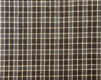 Homespun Material | Home Decor Material |  Blue Cotton Homespun Material | Window Pane Material | 1 Yard