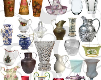 Fun With Vases - Vase Options 2 Individual Png Graphic Images