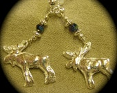 Here Moosey, Moosey - Recycled Silver Earrings on Posts OR CLIPS