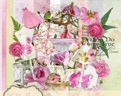 Shabby Roses - Digital Scrapbook Kit