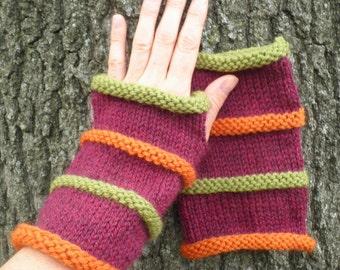 KNITTING PATTERN/ OSLO/ Mens Fingerless Gloves  3 sizes 3 lengths Easy/ Striped Glove Pattern/ Mens Glove/ Mens Knitting / Easy Glove