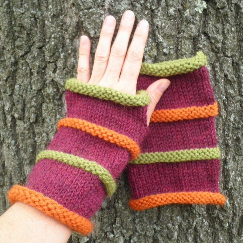 Mens Fingerless Gloves Knit Pattern : KNITTING PATTERN/OSLO Gloves Fingerless Gloves for Men 3 sizes