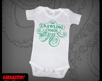 The Crawling Chaos Baby Onesie Nyarlathotep Lovecraft Humor