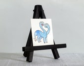 Tiny Monster Original Watercolor Painting No. 054