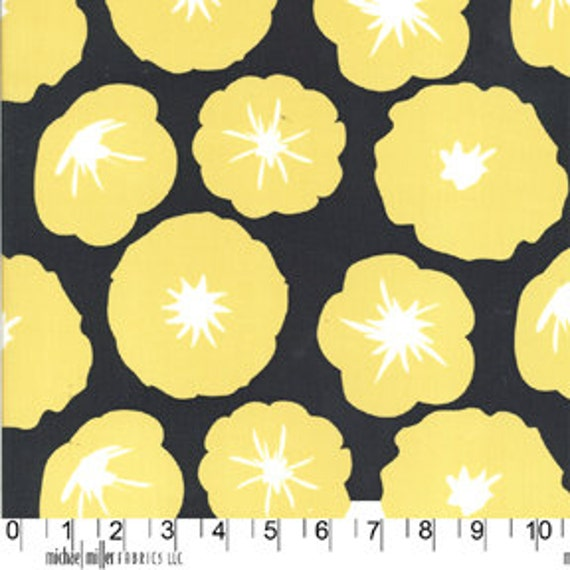ON SALE--Madrona Road---Morning Glory in Charcoal-1 yard--Violet Craft for Michael Miller Fabrics