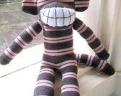 Josette happy sock monkey