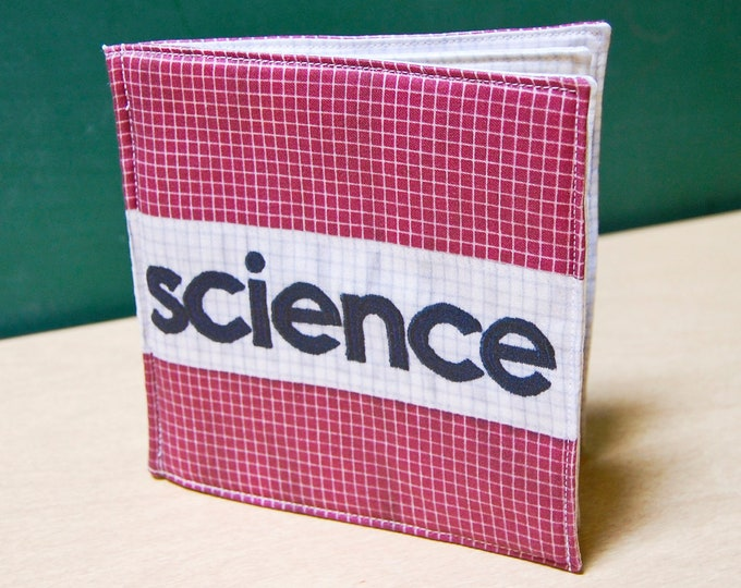 Science Cloth Book, printed on organic cotton