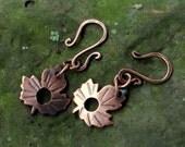 Petite Leaves  Mini Clasp in Copper- QTY 2