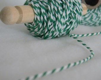 25 yards bakers twine green and white