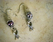 Swarovski Pearl and Silver hope Earrings
