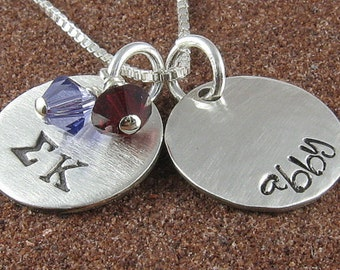 Sigma Kappa Pendant,ΣΚ Personalized Greek Letter Sterling Silver or 14K Gold Filled Jewelry,ΣΚ Bid Day,Initiation Day/ OLP