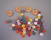 Fall Potpourri Buttons- Dress it Up Pkg - Squirrels & Colorful Baby Buttons