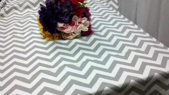 Items Similar To CHEVRON TABLECLOTH COLORS Rectangle Or Square Chevron 54  60 72 90 84 96 108 120 , Grey Blue Red Lime Yellow Orange Pink Lilac Purple  Khaki ...