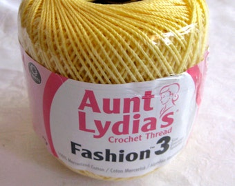 Crocheting Thread : crochet thread, Aunt L ydias Fashion Crochet thread, Size 3, cotton ...