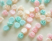 8 pcs Teeny Lovely Color Rose (10mm11mm) FL309 (((LAST)))