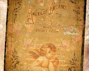 Instant Download Angel Of Dreams  - U Print Digital Download Collage Sheet - Single Image