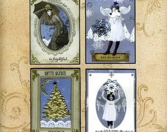 Christmas Art Card Set - True Blue