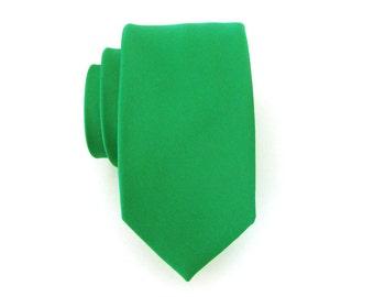 Necktie Kelly Green Skinny Mens Tie