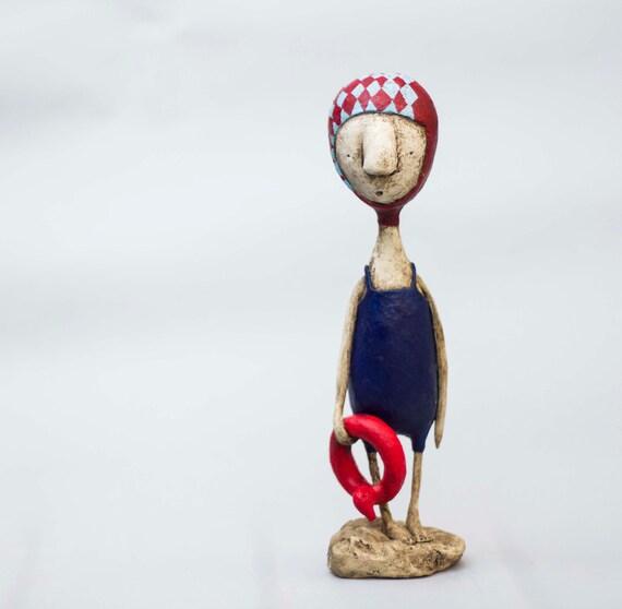 Kjell......OOAK mixed media sculpture
