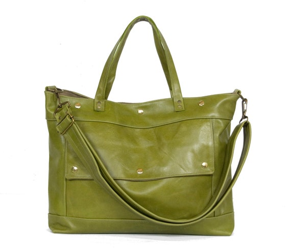 Archive Bag in Green Apple Leather - LAST ONE - Made to Order