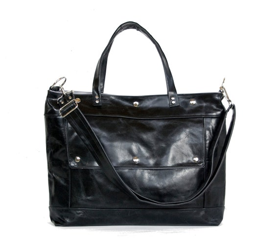 Archive Bag in Jet Black Distressed Leather - LAST ONE - Ready to Ship