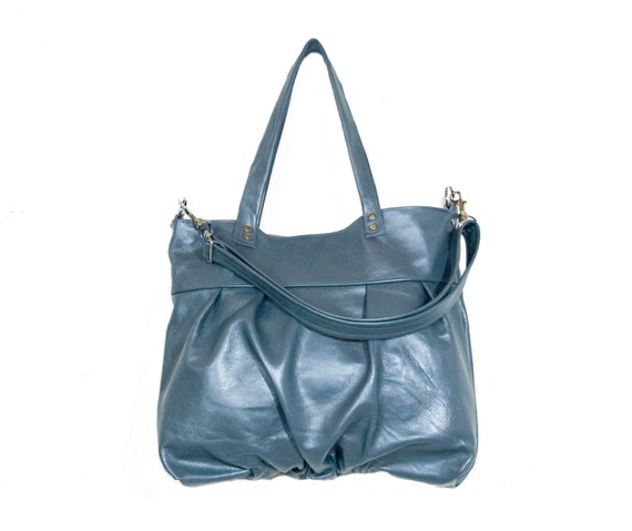 SALE - Mini Ruche Bag in Ocean Pearl Metallic Leather - Last One - Ready to Ship