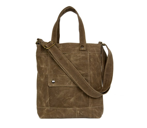 SALE - Packet in Sepia Brown Waxed Canvas - Last One - Ready to Ship