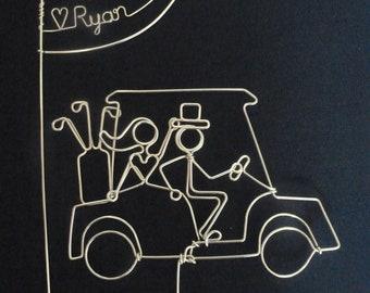 LOVE PUTT: Golfers Wedding Cake Topper