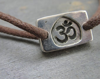 Ohm Bracelet Om Jewelry in Sterling Silver