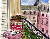 Pink Table Pink Chair Pink Paris