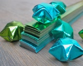 Lucky Stars - Gorgeous Green Threesome - Set of 100 paper strips