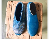 Felted wool shoes multicolored