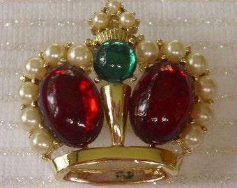 Vintage Crown Pin Brooch