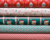 Dear Mr. Claus by Cosmo Cricket for Moda, Fat Quarter Set