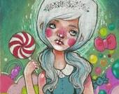 Gretel / Hansel and Gretel / 5 x 7 Illustration Print