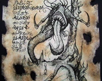 DEVOURING DEMONS cthulhu larp Necronomicon Fragment