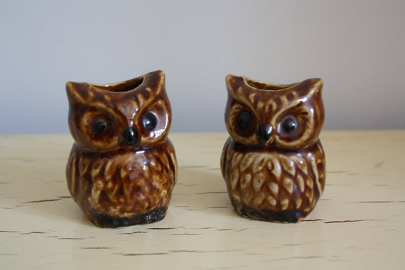 Twin Owl Candle Holders