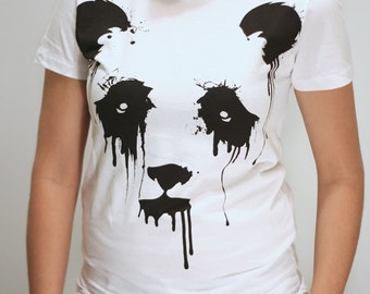 Vanishing Panda - American Apparel Womens t shirt ( Panda t shirt )
