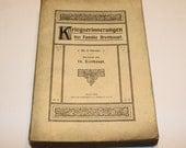 Illustrated German Kriegserinnerungen Der Familie Breithaupt 1912 Papeback Book