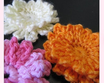 flower pattern PATTERN crocheted large flower -- flower 55