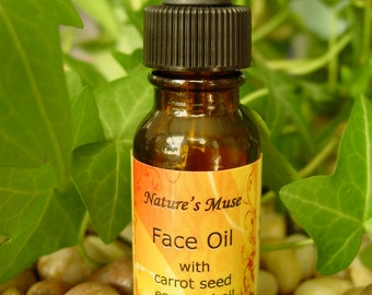 Face Oil, 1/2 fl oz, with carrot seed essential oil