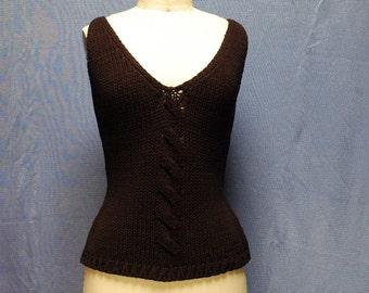 vintage 80s knit top, black, luxe item